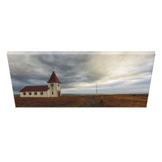 Impressão Em Tela A igreja em Hellnar