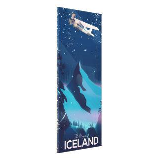 Impressão Em Tela A mágica do poster de viagens de Islândia