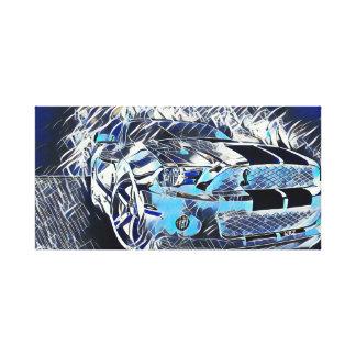Impressão Em Tela A maioria de pintura média acrílica do abstrato