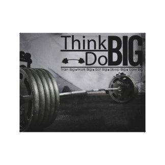 Impressão Em Tela A motivação da inspiração cita o poster do