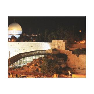Impressão Em Tela A opinião velha da cidade de Jerusalem