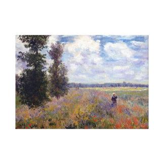 Impressão Em Tela A papoila de Claude Monet coloca perto de