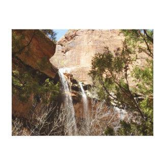 Impressão Em Tela A piscina esmeralda cai I do parque nacional de