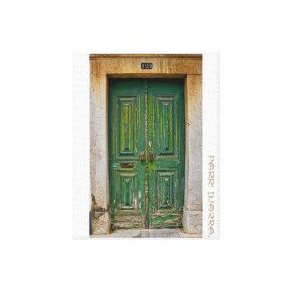 Impressão Em Tela A porta Verde