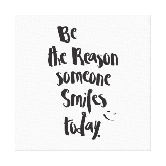 Impressão Em Tela A razão alguém SmilesToday, caligrafia das