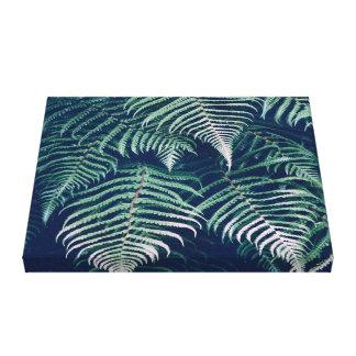 Impressão Em Tela A samambaia tropical verde sae do teste padrão