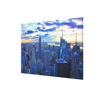 Impressão Em Tela A skyline do fim da tarde NYC como o por do sol
