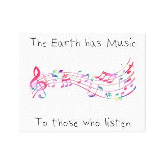"""Impressão Em Tela """"A terra tem a música àquelas que escutam"""" (o"""