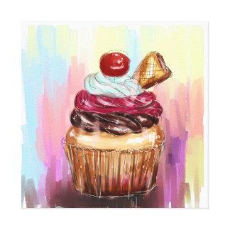 Impressão Em Tela a vida é uma parte de bolo do copo