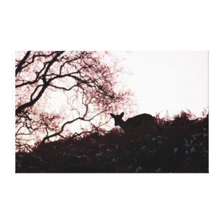 Impressão Em Tela Abaixo do monte (cervos)
