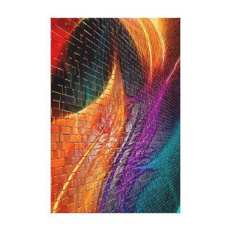 Impressão Em Tela Abstrato