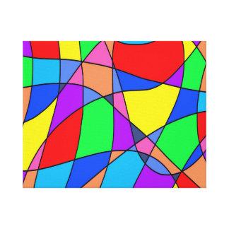 Impressão Em Tela Abstrato colorido dos quadrados