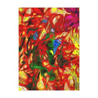 Impressão Em Tela Abstrato da arte de Collaberation