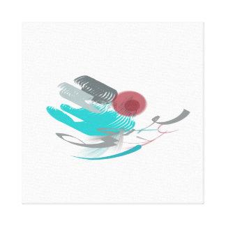 Impressão Em Tela Abstrato de turquesa
