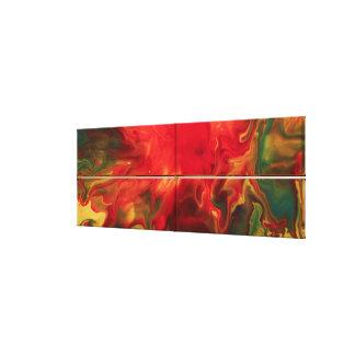 Impressão Em Tela Abstrato do vermelho