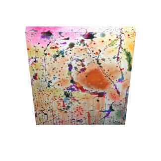 Impressão Em Tela Abstrato - flores e pássaros