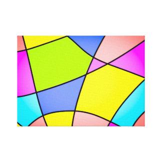 Impressão Em Tela Abstrato Pastel brilhante dos quadrados