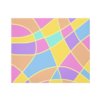 Impressão Em Tela Abstrato Pastel dos painéis