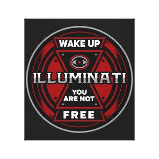 Impressão Em Tela Acorde-o não são Illuminati livre