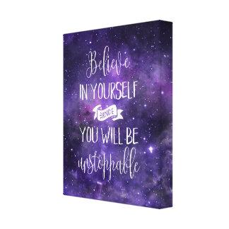 Impressão Em Tela Acredite em o senhor mesmo citações inspiradores