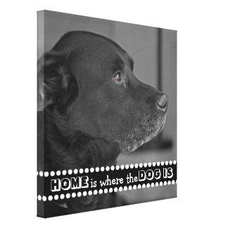 Impressão Em Tela Adicione seu cão feito sob encomenda a casa da