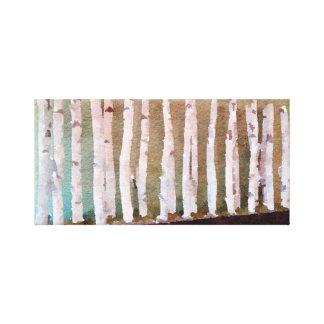 Impressão Em Tela Aguarela abstrata das árvores de vidoeiro