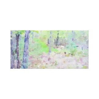 Impressão Em Tela Aguarela Woodsy