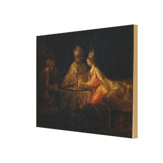 Impressão Em Tela Ahasuerus e Haman no banquete de Esther