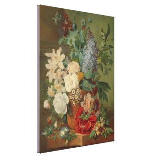 Impressão Em Tela Ainda vida com flores em um vaso do Terracotta