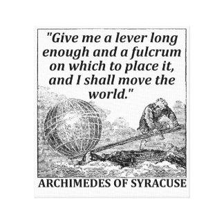 Impressão Em Tela Alavanca de Archimedes