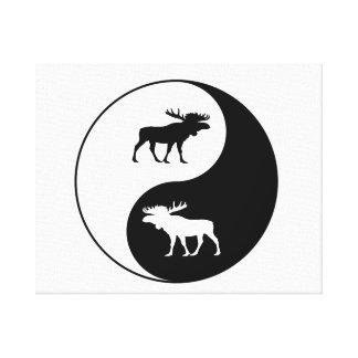 Impressão Em Tela Alces de Yin Yang