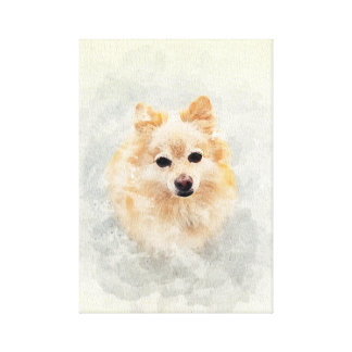 Impressão Em Tela Amante do cão! Cão de Pomeranain do gengibre do