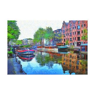 Impressão Em Tela Amsterdão. Um porto quieto