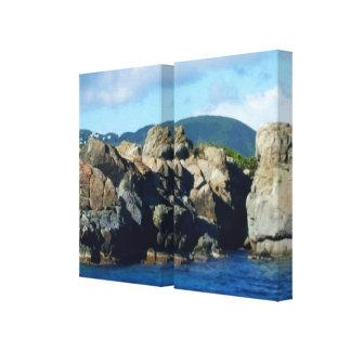 Impressão Em Tela Angra das caraíbas lindo da paisagem de St Thomas