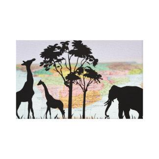 Impressão Em Tela Animais de África