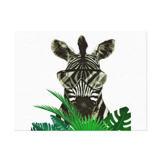 Impressão Em Tela Animal do estilo da zebra do hipster