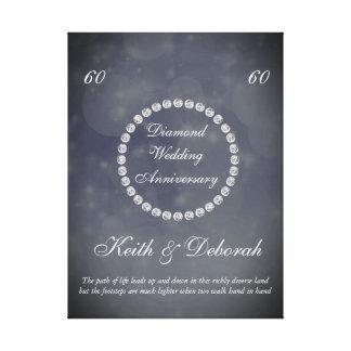 Impressão Em Tela Aniversário de casamento customizável do diamante