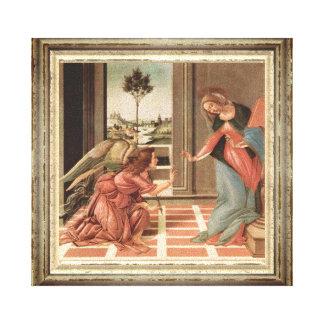 Impressão Em Tela Anjo Gabriel e Mary