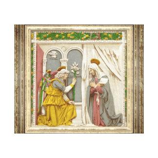 Impressão Em Tela Anjo Gabriel o aviso a Mary