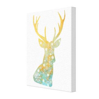 Impressão Em Tela Antler da rena. Flocos de neve. Inverno. Arte