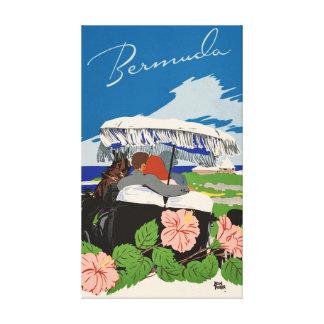 Impressão Em Tela Anúncio retro romântico das viagens vintage de