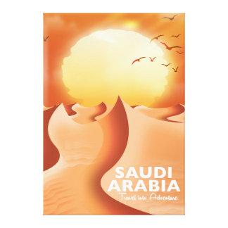 Impressão Em Tela Arábia Saudita pelo poster de viagens do ar