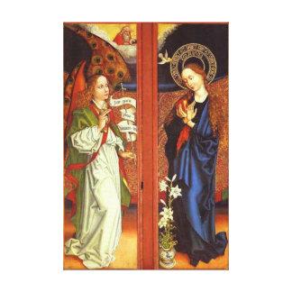 Impressão Em Tela Arcanjo Gabriel - aviso - Schongauer