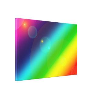 Impressão Em Tela Arco-íris borbulhante