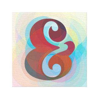 Impressão Em Tela Arco-íris do Ampersand pronto para pendurar a arte