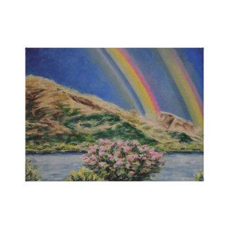 Impressão Em Tela Arcos-íris do rio