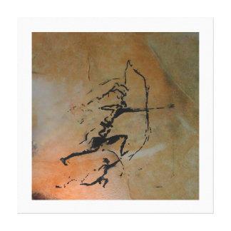 Impressão Em Tela Arqueiros da caverna de Remigia