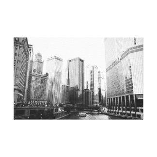 Impressão Em Tela Arquitetura do centro de Chicago