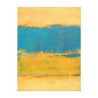 """Impressão Em Tela Arte abstracta alaranjada e azul """"dianteira"""""""