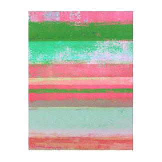 """Impressão Em Tela Arte abstracta cor-de-rosa e verde """"Toppled"""""""